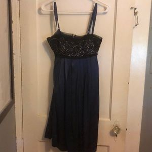 Blue silk and sequined BCBG dress